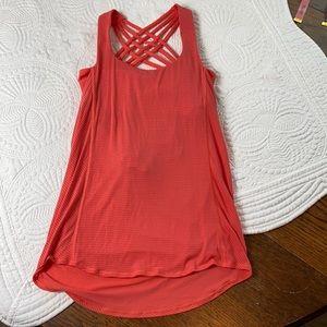 Lululemon women's orange top w/built sports bra